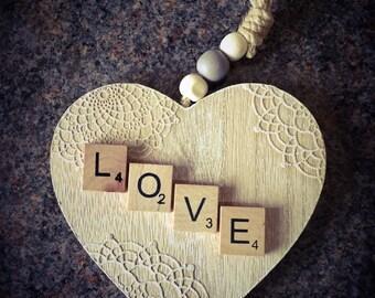 Scrabble Art Heart