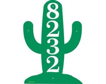 Cactus House Number Sign - Southwestern Theme Address Sign