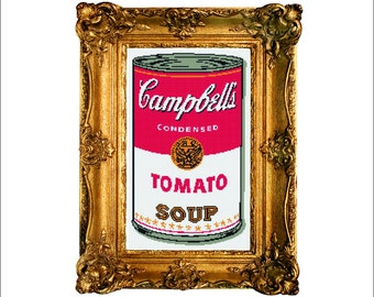 Campbells Soup Tomato POP ART - Andy Warhol - Cross Stitch Pattern