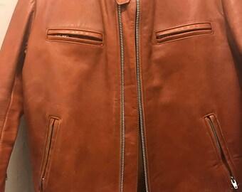 Vintage Butterscotch Mens Leather Jacket