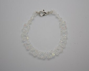 Swarovski crystal and seed bead bracelet