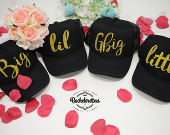 Little Big GBig GGBig Sorority hats, sorority hats, Little Big, Greek hats, Little sister, Big Sister, Big and Little hats, Reveal hats