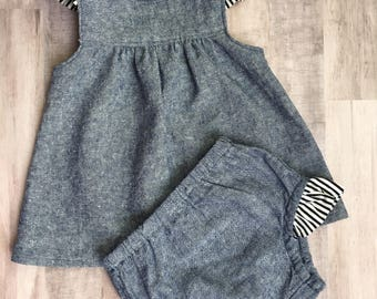 Chambray with Stripes Set