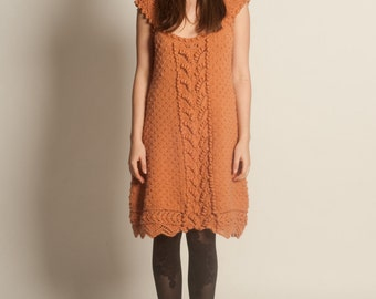 Knit dress from pure new wool and cashmere