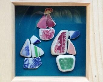 Three ships go sailing by: sea pottery art