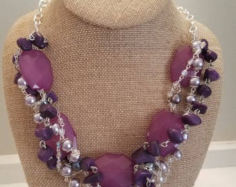 Purple Tangle Necklace