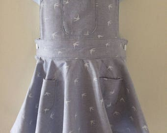 Toddler pinafore dress.