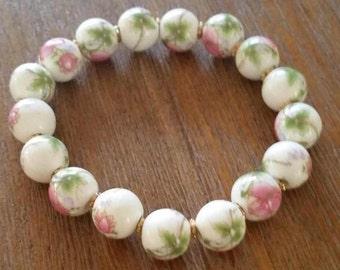 Porcelain Floral Bracelet