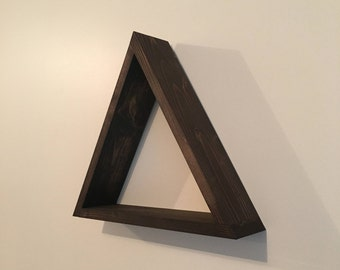 Floating Triangle Shelf, Floating Triangle Shelves, Geometric Shelf, Geometric Shelves, Floating Shelf, Floating Shelves