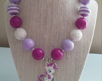 My Little Pony Rarity Bubblegum Bead Necklace