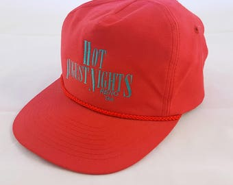 90s Vintage Snap Back Red Hot August Nights Reno '94
