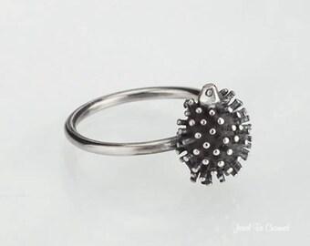 Sterling Silver Hedgehog Ring Solid .925 Hedgehog Rings Custom Sizes