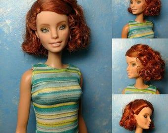 Noelle - OOAK Repainted 1/6 scale, 12 inch fashion doll