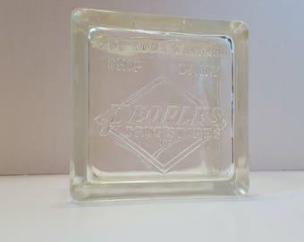 Vintage People's Drug Store Glass Brick Safe