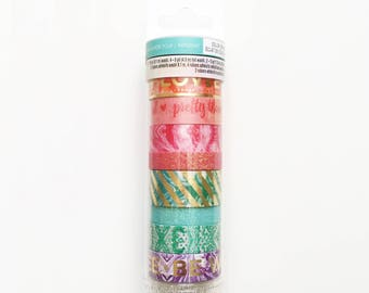 Set of 8 Washi Tapes, Recollections, Bright Colors and Glitter