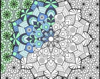 Zen Coloring Mandala Printable Adult Book Pages PDF 5