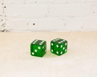 "2"" Green Bakelite Jumbo Dice"