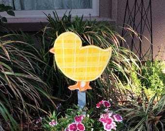 Easter Chick Garden Stake, Easter decorations, Easter Yard Decor, Outdoor Easter decor