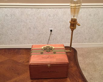 Cigar Box Desk Lamp - (with a touch of steampunk)