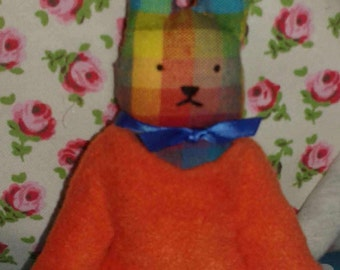 Handmade 'Stanley' the cuddly toy bunny rabbit