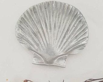 Silver Shell Tray // Mermaid Trinket Jewellery Holder