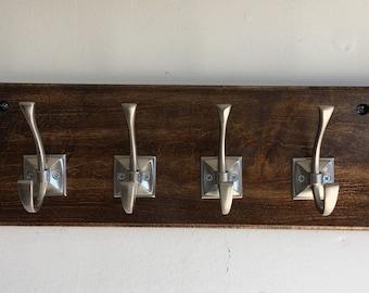 Handmade Maple Coat Rack with Six Hooks