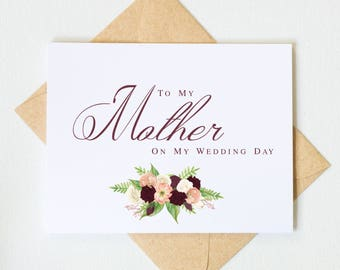 To My Mother on My Wedding Day Card | To My Mom on My Wedding Day | Day of Wedding Cards | Style #LGW2172
