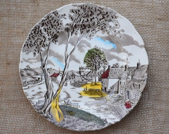 Set of Two (2) W. H. Grindley Sunday Morning Dinner Plates