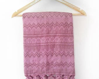 pink mexican rebozo / baby carrier / pashmina / scarf