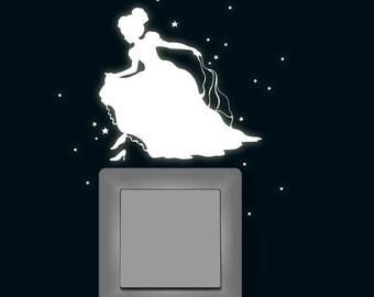 Cinderella bright fluorescent light sticker