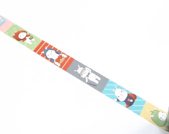 1m rabbit Washi tape rabbit Maskingtape