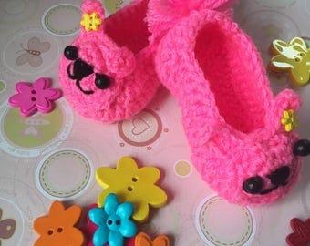 Bunny Crochet Baby Booties