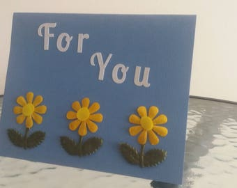 Floral 'For You' Card