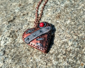 polymer clay jewelry steampunk heart