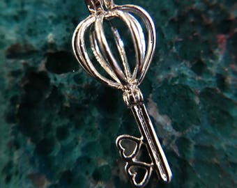 Love Key Cage Pendant
