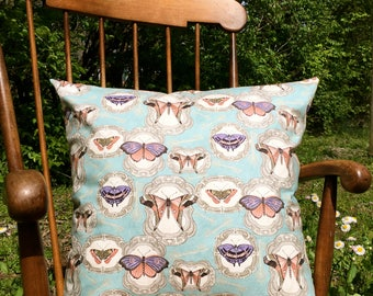 Handmade Dual-Sided Butterfly Throw Pillow