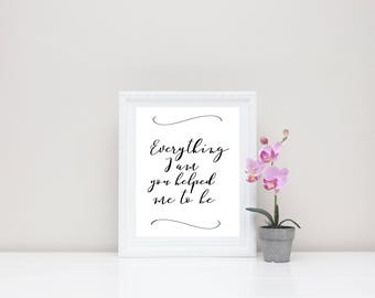 Mother's Day Gift Quote Digital Print