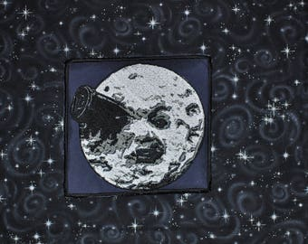 A Trip To the Moon - Le Voyage Dans La Lune - Embroidered Patch - Man in the Moon Face