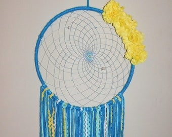 XL one of a kind dream catcher with real parrot feathers