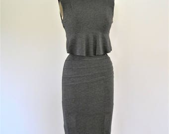IRIS Charcoal pleated Pencil Skirt