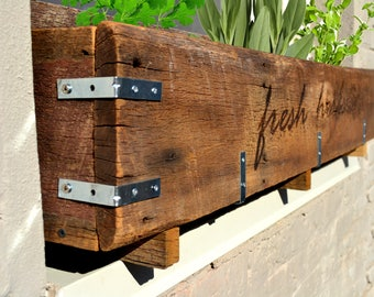 Rustic Window Planter Box
