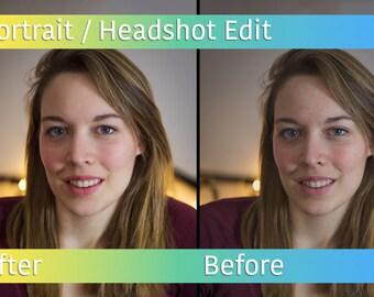 Portrait/Headshot Editing