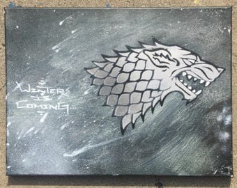"""Game of Thrones """"Winter is Coming"""" Direwolf"""