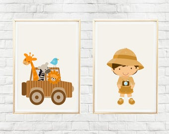 Kids Safari Poster, Safari