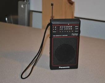 Vintage Panasonic AM/FM High Sensitivity Portable Receiver Model RF-502 from 1970