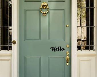 Hello - Door Vinyl Decal