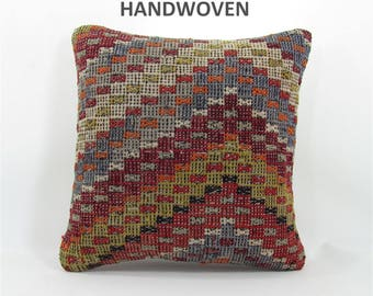 throw pillow antique kilim pillow boho rug pillow throw pillow cover decorative pillow home decor pillows 000648