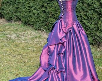 Fuchsia wedding dress size 36-38