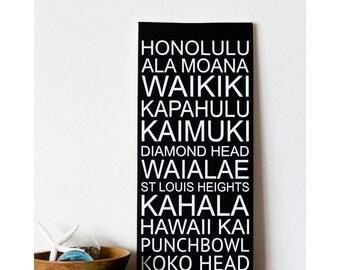 Hawaii Beach Art - Subway - Hawaiian Beaches - Popular Beaches in Hawaii