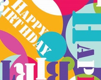 Happy Birthday Gift Wrap, Environmentally Friendly, 100% Recycled Wrapping Paper